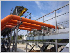 Conveyor systems for crests, a residue,