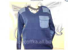 The sweater is uniform demi-season. Service dress