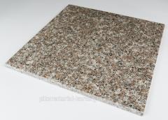 Tile from granite sidewalk, facing