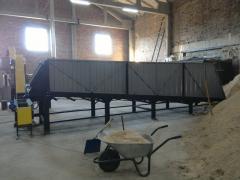 Транспортер с подвижным полом для биомассы