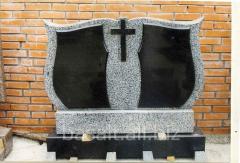 Памятник двойной из серого гранита