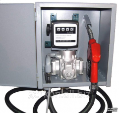 Equipment of a fuel truck metering station of