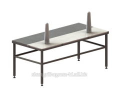 Table production baking plate cutting of bird