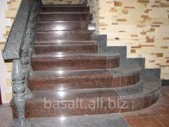 Лестница - красный гранит