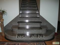 Лестница - серый гранит
