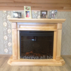 To get a framework under fireplaces, wooden
