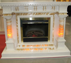Fireplaces from marble, onyx, granite, travertine,