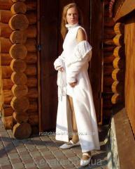 Пальто и платье из белого флиса
