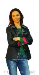 "Buff coat ""leather biker jacket"""