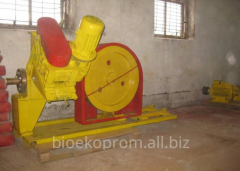 Press for briquetting. The line for production of
