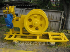 Equipment for briquetting Protechnic.Press used for the production of briquettes.