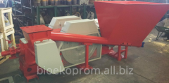 Press for production of briquettes mobile. A press