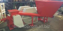 Press for production of briquettes mobile. A press