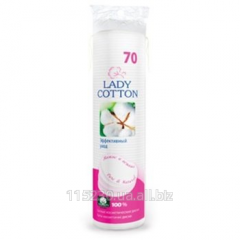Disks Wadded Lady Cotton cosmetic, 70 pieces