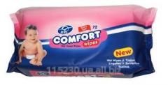 Napkins Wet uni Comfort, 72 pieces