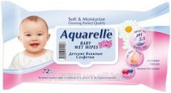 Napkins Children's Damp Aquarelle Kids, 72