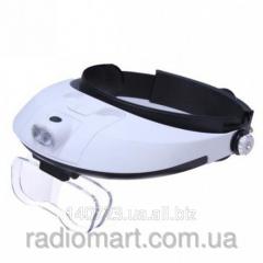 Binocular magnifying glass with LED illumination
