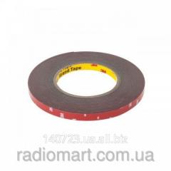 Adhesive tape bilateral black 3M High Density