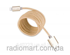 Charging Golf USB cable Lightning metal gold cable