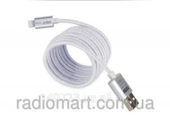 Charging Golf USB cable Lightning metal silver