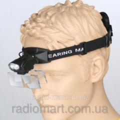 Magnifying glass on MAGNIFIER 9892C head with LED