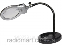 Desktop magnifying glass with illumination of