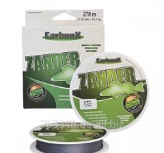 Шнур Carbon X Zander 0,15мм 270M 12,9кг серый