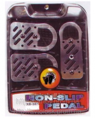 Nozzles on XB–387 pedal