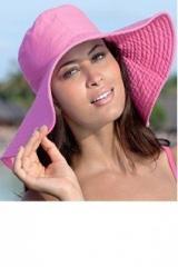 Пляжная шляпа розовая
