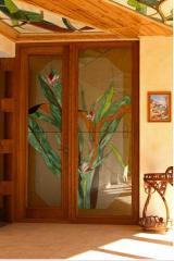 Витражи дверные