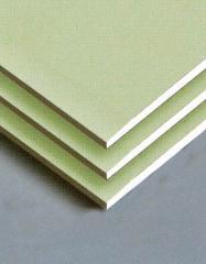 Moisture resistant gypsum cardboard