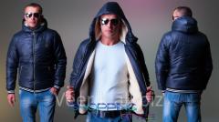 Мужская зимняя куртка Мано синтепон+мех 5112