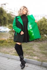Пальто в горошек трапецидальное кашемировое 2286