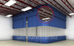 Curtains for production rooms and car wash