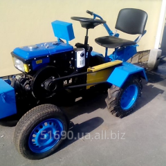 The remade motor-blocks under a tractor from the