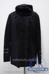 Куртка женская кожаная с натуральной опушкой