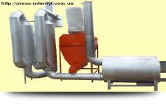 Сушилка соломы для изготовления топливных гранул САД - 0.4 - 0.8