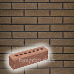 Brick narrow chipped tychkovy hollow, chocolate