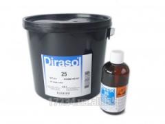 Textile emulsion of Dirasol 25 (Sericol, England)