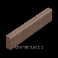 Curb of 60 mm brown 1 m