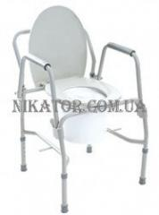 Chair - a toilet with a folding armres