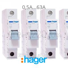 Автоматический выключатель Hager MC 1-полюсный
