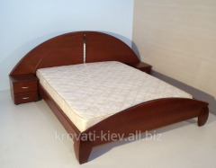 "Double wooden bed ""Lyudmila"" in"