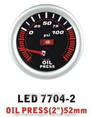 Pressure of oil is 7704 - 2 LED arrow diameter