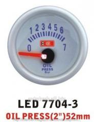 Pressure of oil is 7704 — 3 LED arrow diameter