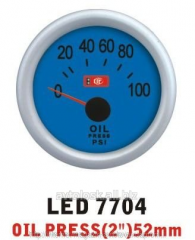 Pressure of oil is 7704 LED diameter there are 52