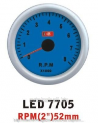 The tachometer 7705 LED arrow diameter is 52 mm.