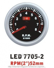 The tachometer 7705-2 LED arrow diameter is 52 mm.