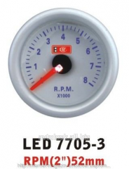 The tachometer 7705-3 LED arrow diameter is 52 mm