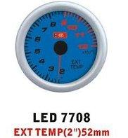 Temperature of exhaust LED-7708 gases diameter,